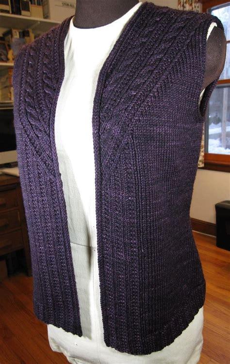 knit patterns for vests in one stonybrooke vest knitting pattern by valerie hobbs