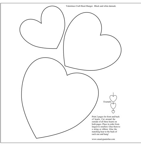 craft templates for smarty printables valentines day valentines