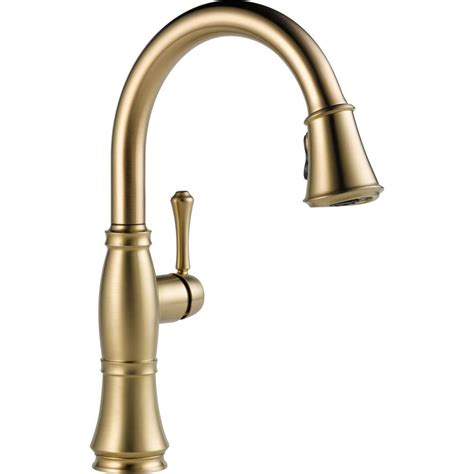 delta bronze kitchen faucets delta cassidy single handle pull sprayer kitchen faucet in chagne bronze 9197 cz dst