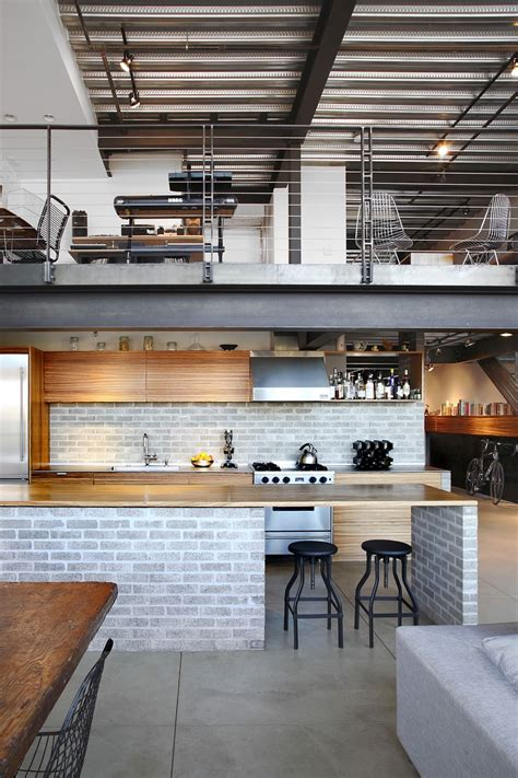 Top Kitchen Designers industrial loft in seattle functionally blending materials