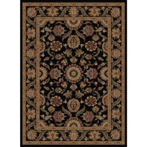 home depot area rugs 5x8 tayse rugs sensation black 5 ft 3 in x 7 ft 3 in