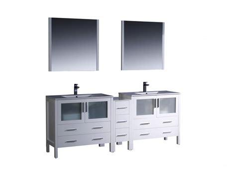 bathroom vanities 84 inches 84 inch sink bathroom vanity in white with ceramic