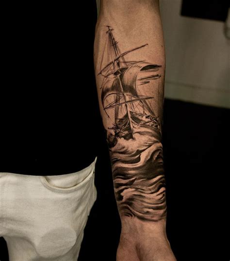 sailing ship maritime sleeve best tattoo design ideas