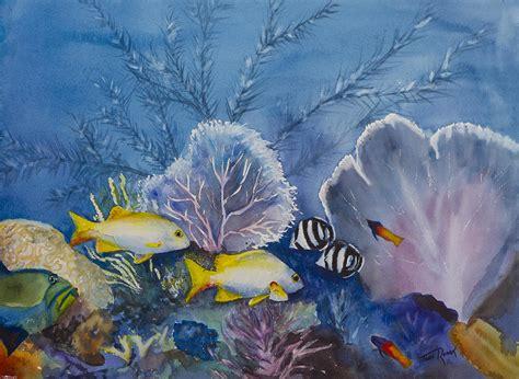 acrylic painting underwater underwater painting by toni roark
