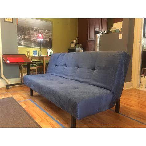 ikea blue sofa bed ikea balkarp sofa bed in blue aptdeco