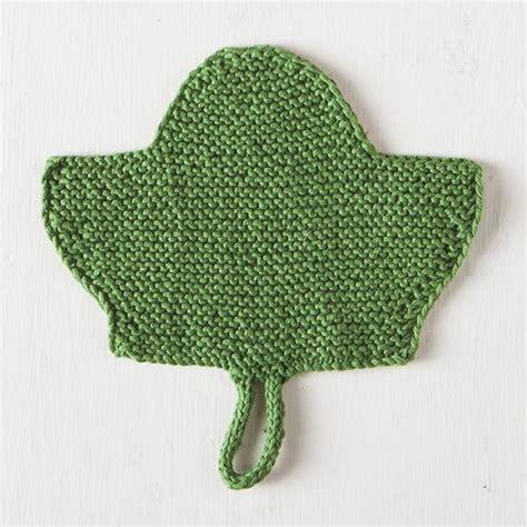 free knitted leaf patterns leaf dishcloth free knitting pattern knitting bee