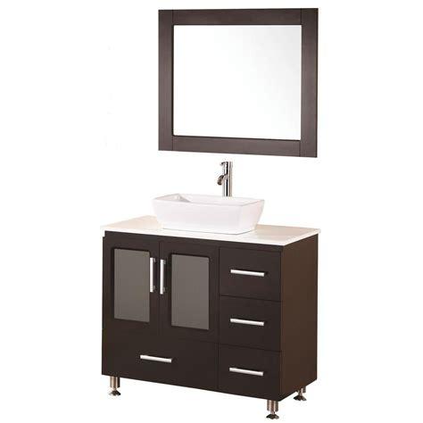 home depot bathroom vanity 36 design element stanton 36 in w x 20 in d vanity in