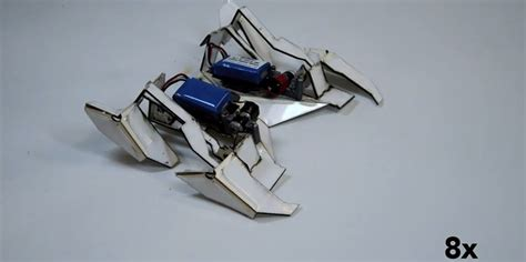 origami robot these origami robots can assemble themselves and walk away