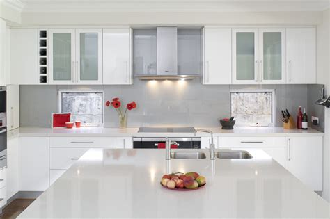 designer kitchen units glossy white kitchen design trend digsdigs