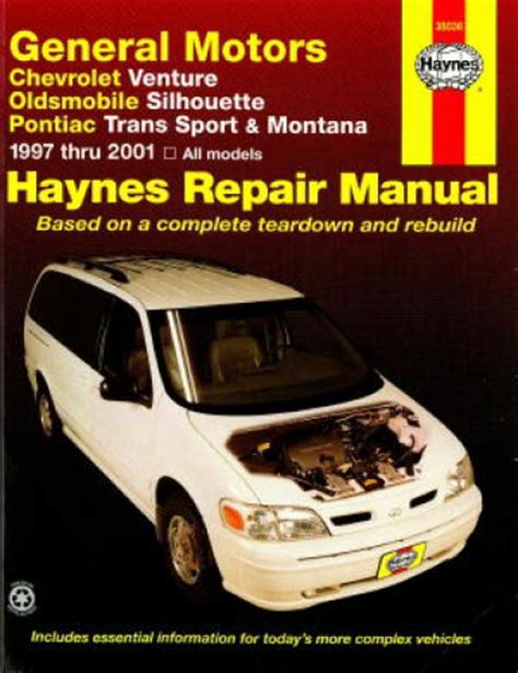 haynes gm chevrolet venture oldsmobile silhouette pontiac trans sport montana 1997 2001 auto