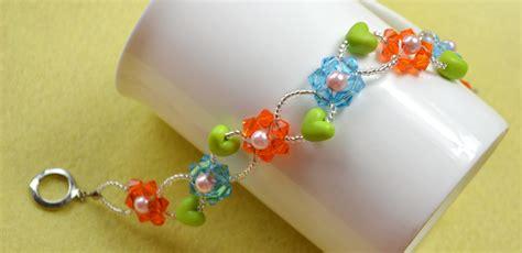 how to make a flower bead bracelet diy colorful flower beaded bracelet with
