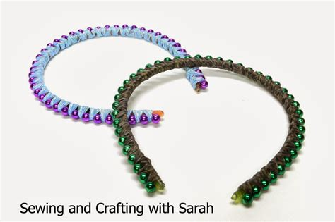 how to wear beaded headband sewing and crafting with ribbon wrapped bead