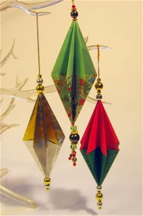 origami ornaments origami maniacs origami ornament for