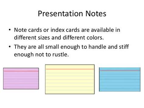 how to make presentation cards presentation notecards