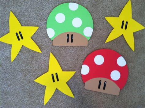 mario crafts for mario bros decorations by clevercouponchick cards