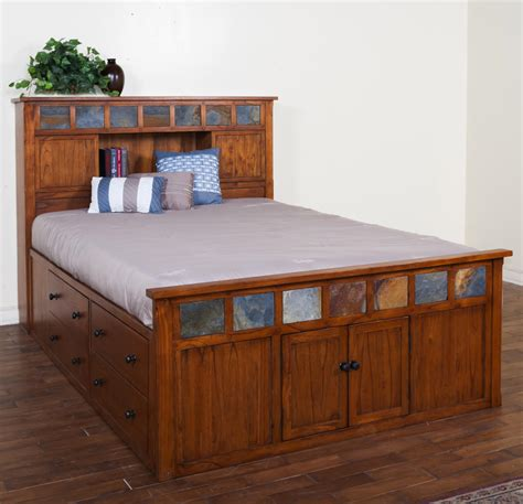 captains bed with drawers bedroom espresso captain size bed with 12 drawers
