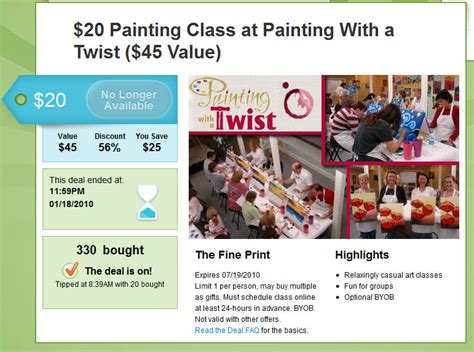 Save Big With Groupon 171 Painting With A Twist 60