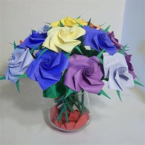 origami birthday gift 16 origami paper folded flower craft handmade
