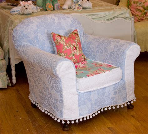 shabby chic chair slipcover shabby chic chair chenille bedspread slipcover roses antique