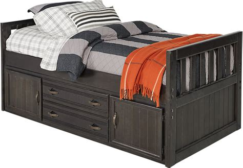 captains bed creekside charcoal 3 pc captain s bed beds colors