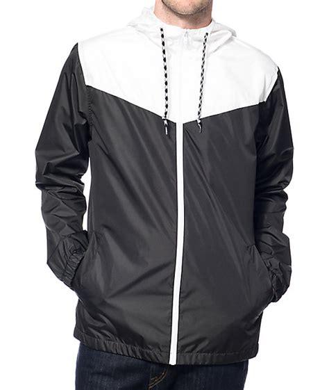 wind breaker zine sprint white black windbreaker jacket