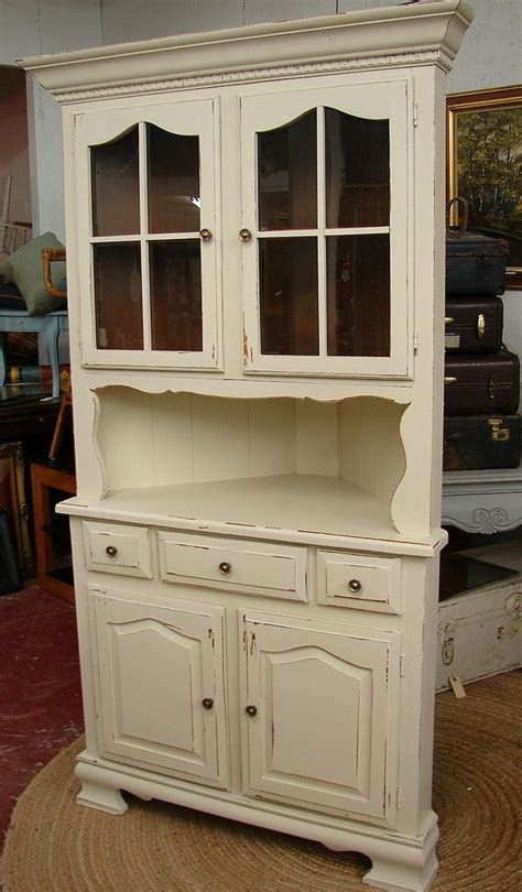 shabby chic corner hutch best 25 corner china cabinets ideas on small