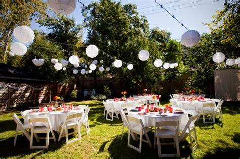 backyard reception ideas planning a backyard wedding on a budget wedding planning