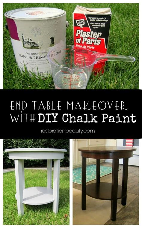 chalk paint no sanding end table makeover and no sanding on