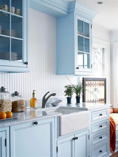 light blue kitchen walls blue kitchen cabinets