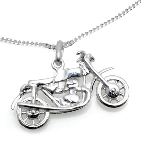 Kette Motorrad Schmuck by Kinderschmuck Halskette Motorrad Mit Kette In Silber
