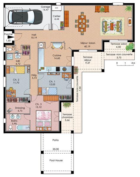 plan maison gratuit plain pied