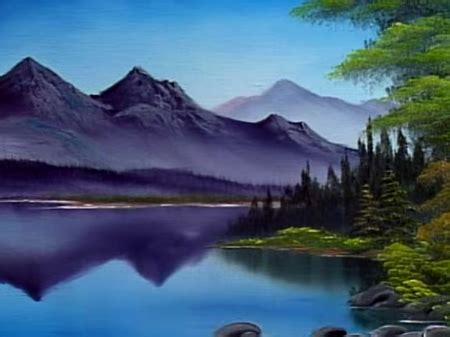 bob ross painting reflections reflections of calm the of painting s31e1