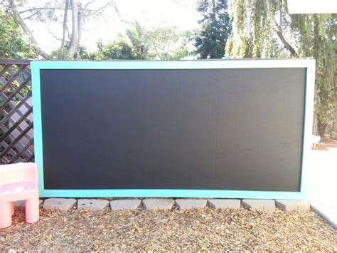 chalk paint outdoors diy outdoor chalkboard sheet of plywood chalkboard