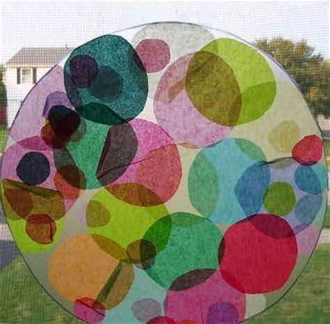 tissue paper suncatcher craft the world s catalog of ideas