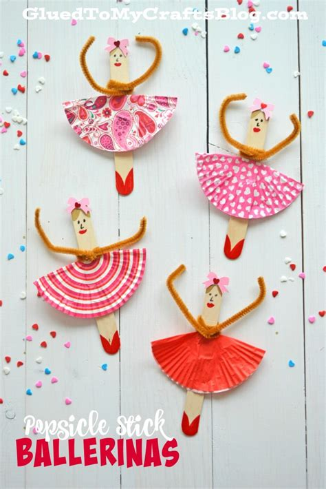 popsicle stick kid crafts popsicle stick ballerinas kid craft glued to my crafts