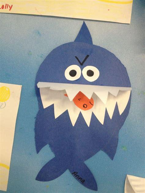 shark craft projects summer craft shark craft kid craft ideas
