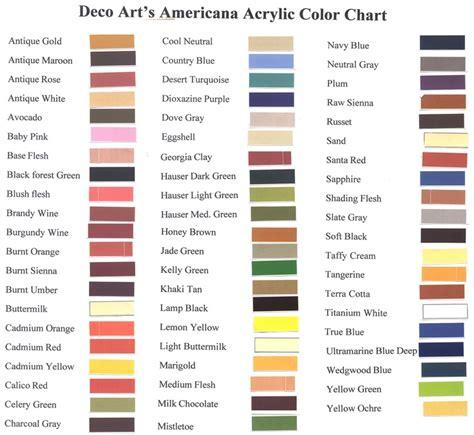 deco americana acrylic paint chart deco paint colors images 1920 s