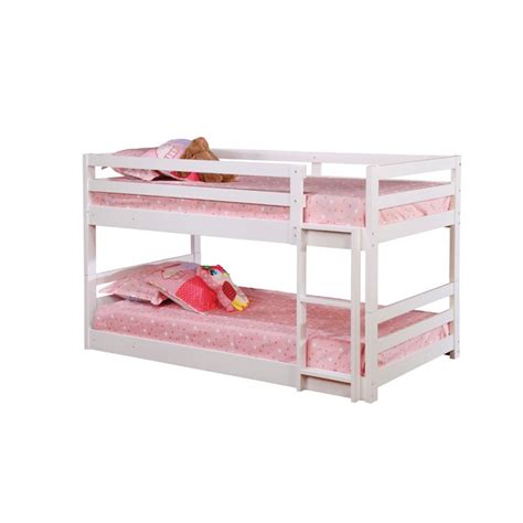 coaster bunk bed coaster bunk bed in white 401302