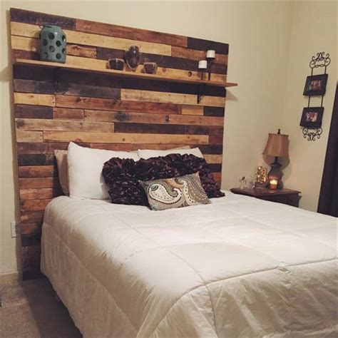 headboard with shelves diy pallet headboard with decorative shelf wooden pallet