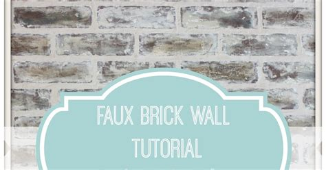 chalk paint joint compound from my front porch to yours diy faux brick wall tutorial