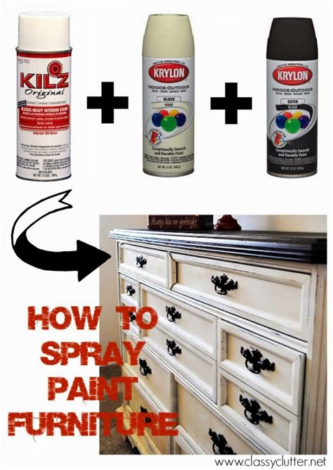 spray painting furniture how to spray clear coat without orange peel