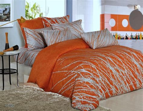 orange comforter sets king orange and grey bedding sets with more ease bedding with
