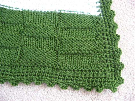 how to finish a knitted blanket hooked on needles knitted basketweave stitch easy and