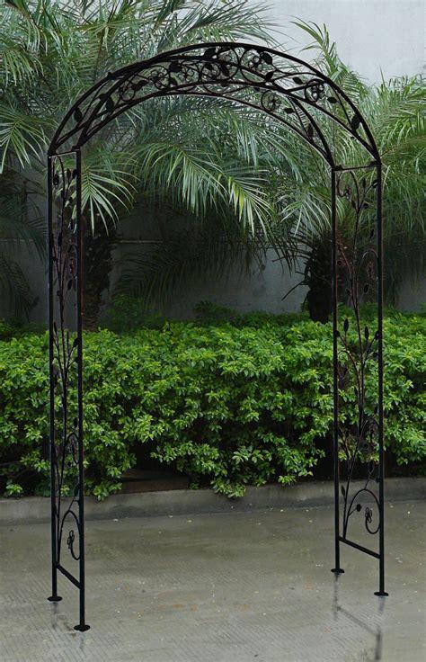 White Garden Arch Uk Bentley Garden Wrought Iron Garden Arch Outdoor Archway