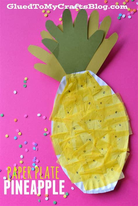 Paper Plate Pineapple Kid Craft