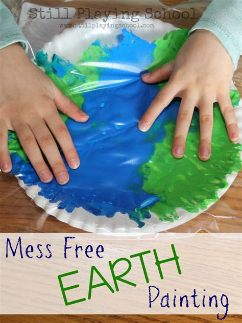 earth day craft ideas for no mess painting in a bag earth craft still school
