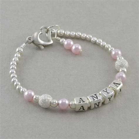 how to make baby jewelry baby gift baby name bracelet sterling by
