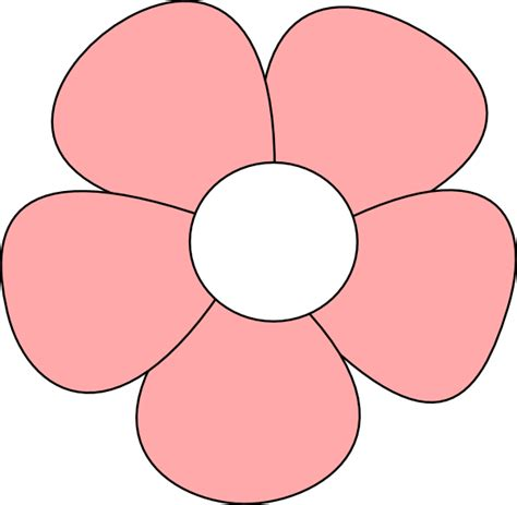 flower simple simple flower pink clip at clker vector clip