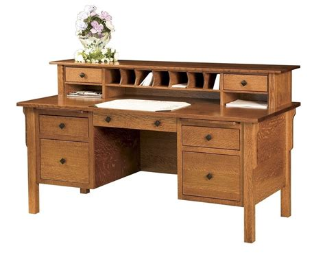 home office wood desk amish computer file desk mission solid wood home office