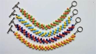 easy beading patterns for beginners easy beaded beginners pattern diy colorful bracelets